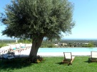 Relaxing by the pool at Trulli Vista