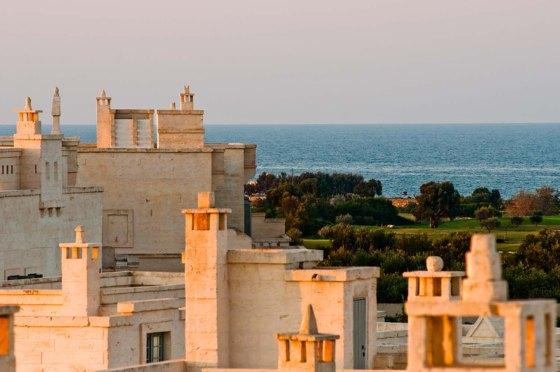 borgo egnazia rooftops and sea reduced