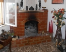 House 1 livingroom fireplace